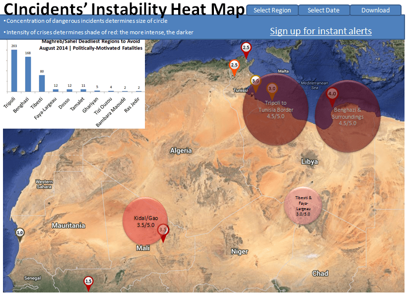 CIncidents Instability Heat Map