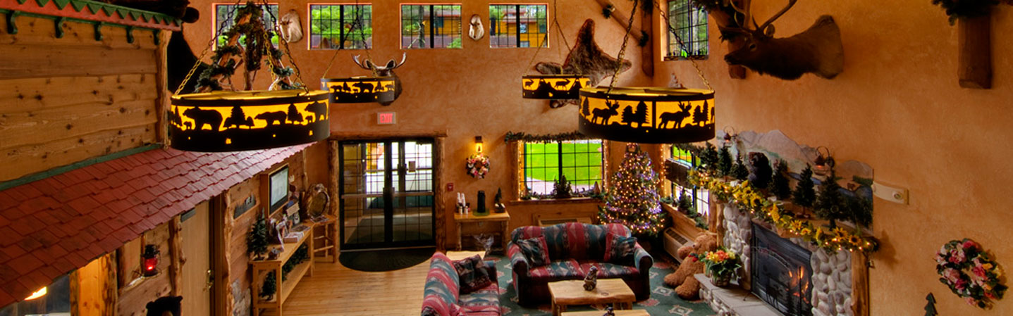 The Tall Timber Lodge Lobby at Meadowbrook Resorts Wisconsin Dells