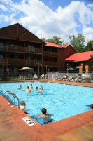 Timber Camp Water Adventure Playland Outdoor Pool at Meadowbrook Resort & DellsPackages.com in Wisconsin Dells