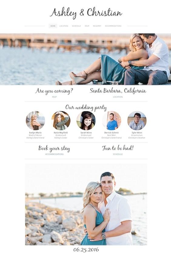 custom wedding website