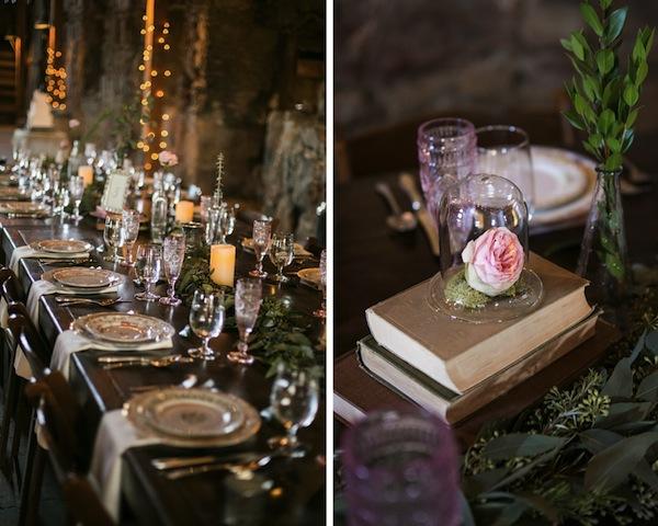 table setting rose garden santa margarita ranch wedding