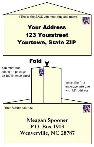How to send a Self-Addressed Stamped Envelope - Meagan Spooner