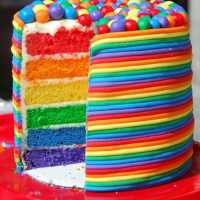 Day #84 - Rainbow Birthday Cake