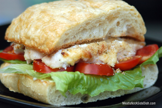 Parmesan Chicken on Asiago Ciabatta Recipe