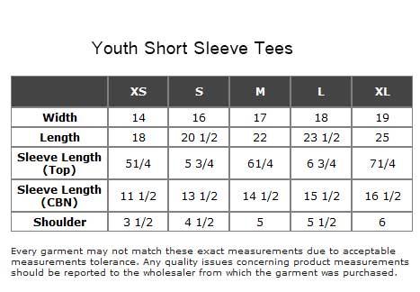 Gildan T Shirts Size Chart For Youth Arts - Arts