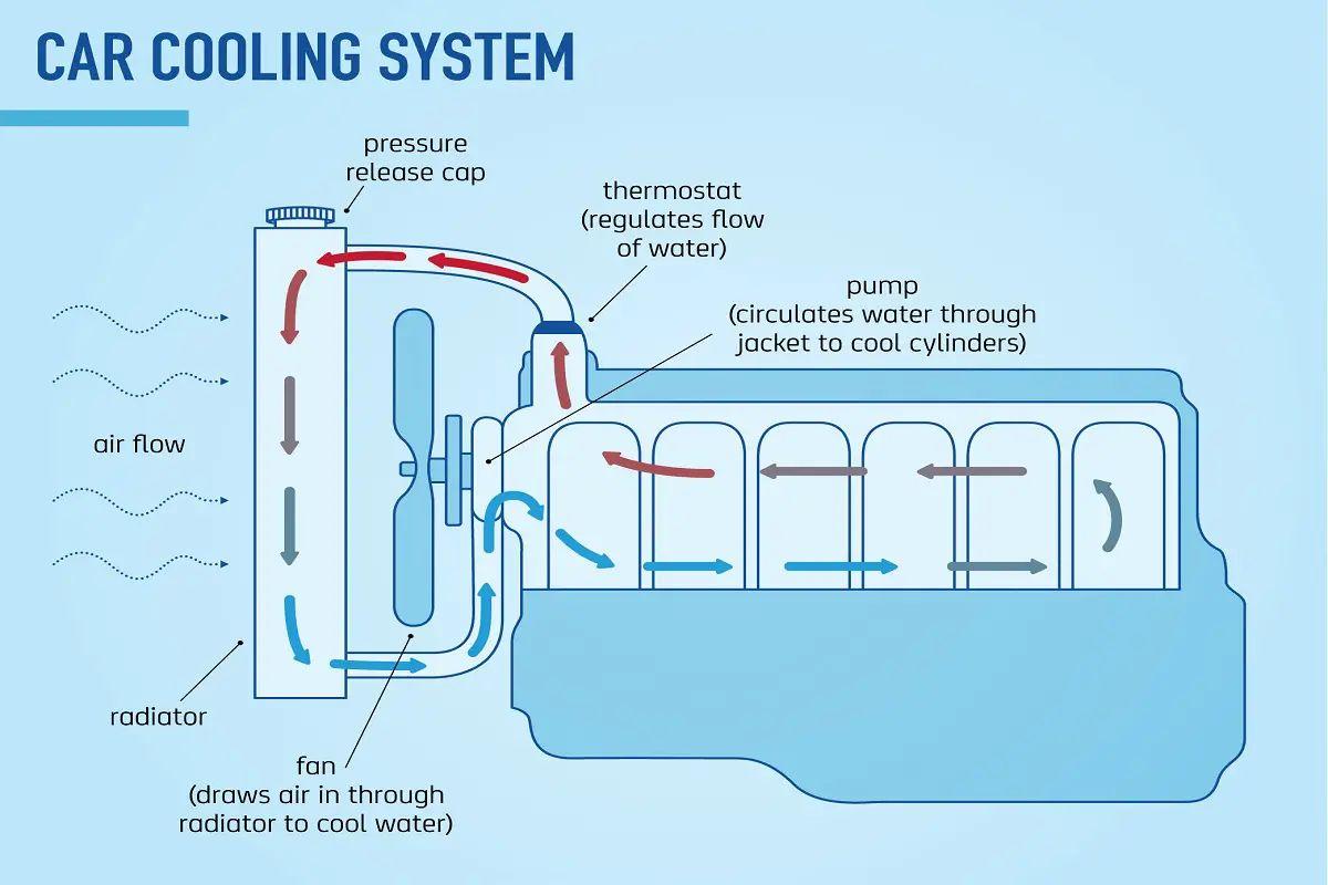 marine engine cooling diagram