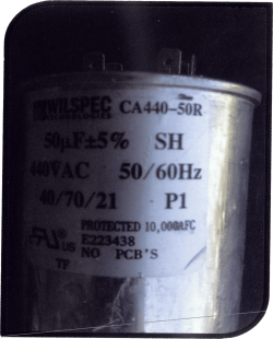 pool heater compressor capacitor