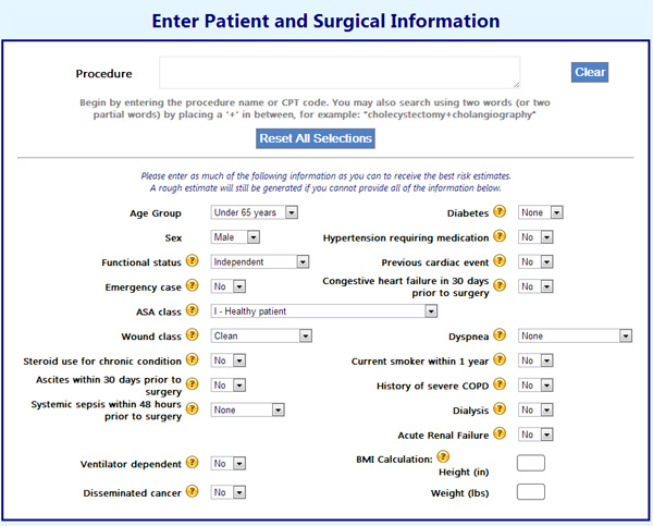 Surgical Risk Calculator Aims for Accurate Pre-Op Assessment Medgadget