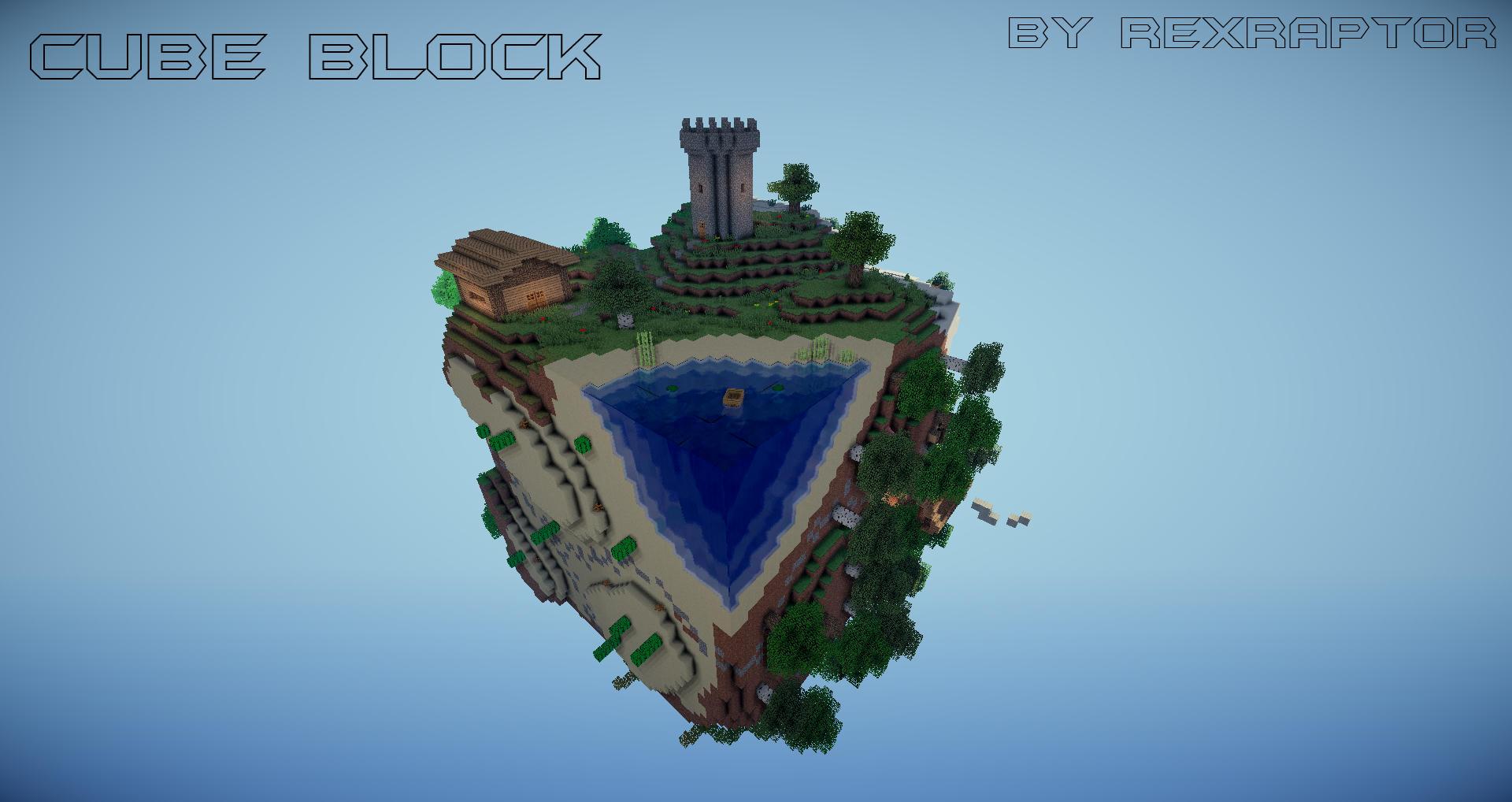 3d Wallpaper Shaft Cube Block Skyblock Deutsch English Maps Mapping