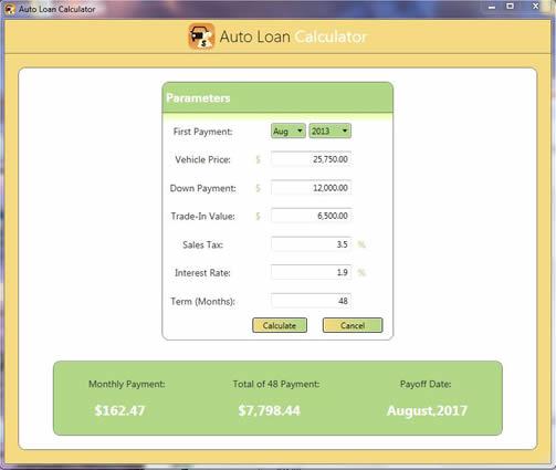 Free Auto Loan Calculator - Media Freeware Download