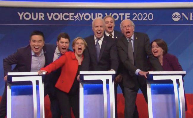Snl Cold Open Mocks 2020 Democrats In Nh Debate Sketch