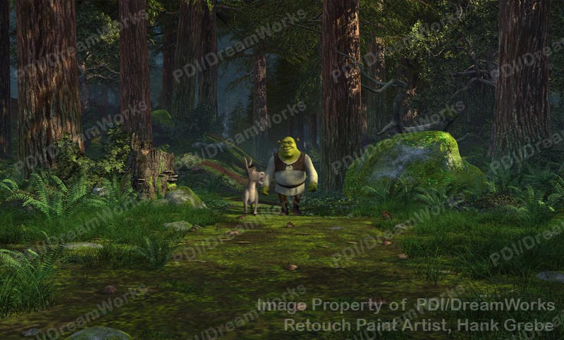 S Animation Wallpaper Photoshop Retouched Shrek 2 Publicity Still Shrek And