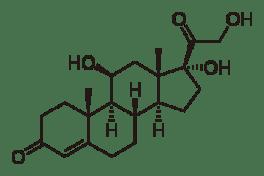 Chemical formula corticosteroids (cortisol)