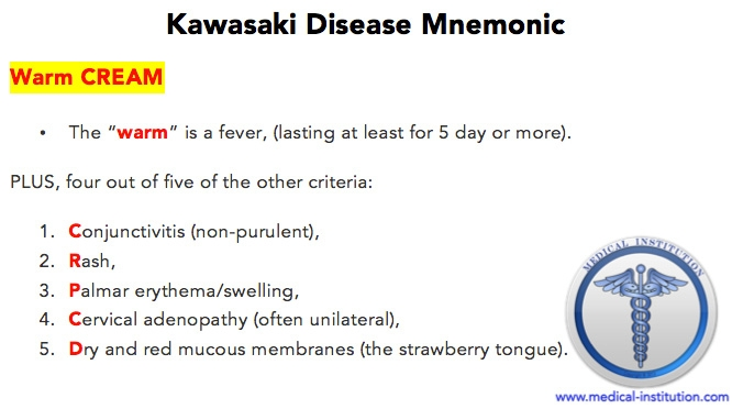 Kawasaki-Disease-Mnemonic-Best-Medical-Mnemonic-Medical - Resume Cheat Sheet