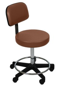 Ultra Comfort Stools with Backrests and Foot Rings