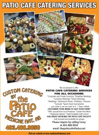 The patio menu catering