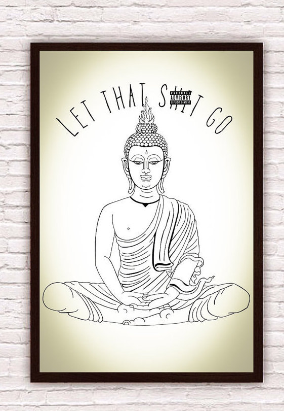 Meditation Gift Buddha Poster