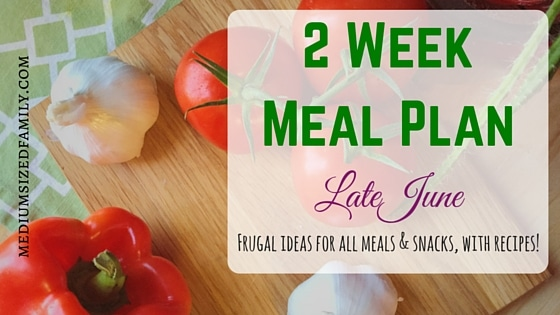 2 Week Meal Plan for Late June