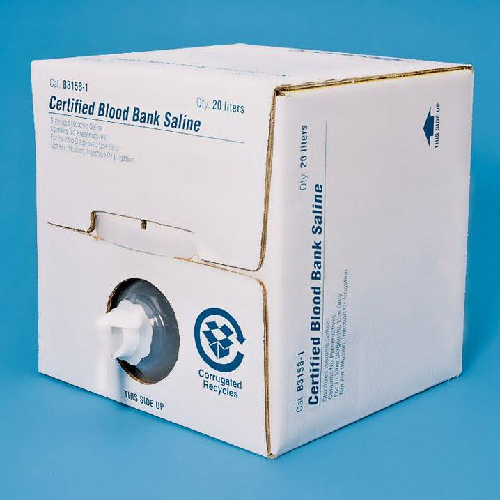 SP Certified Blood Bank Saline by Cardinal Health Medline