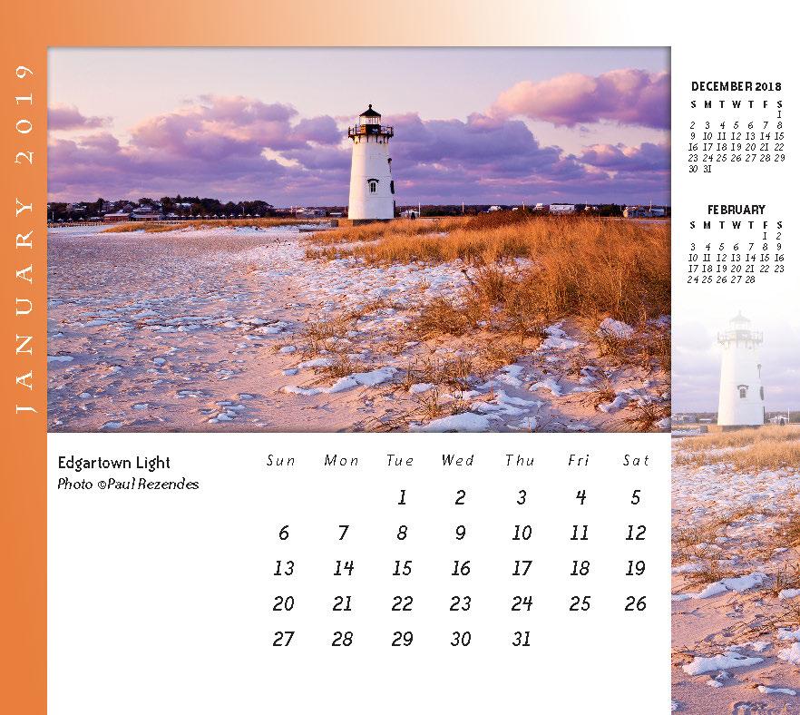 Martha\u0027s Vineyard Desktop/Wall Calendar Meds Maps Cape Cod