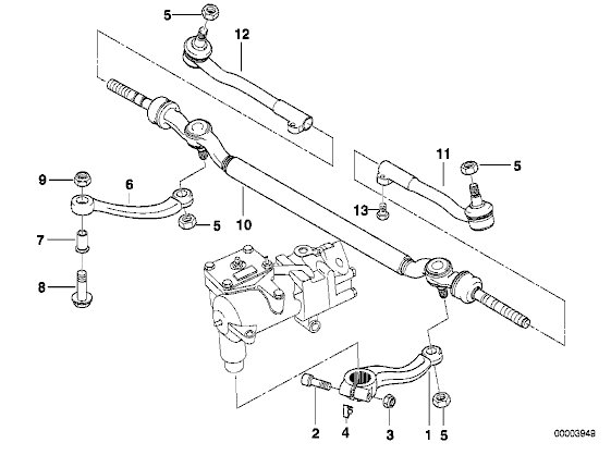 diagram of a tie rod