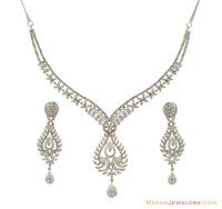 Diamond Jewellery: Diamond Necklace Earring Set