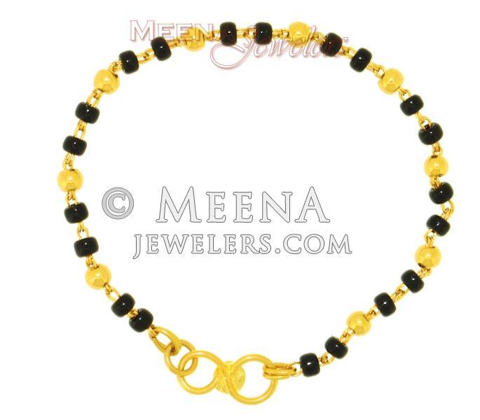 22kt Gold Baby Bracelet With Beads Bjbb2120 22kt Gold