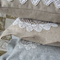 vintage lace doily cushion covers