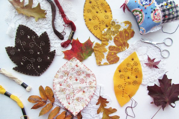 stitching-leaves