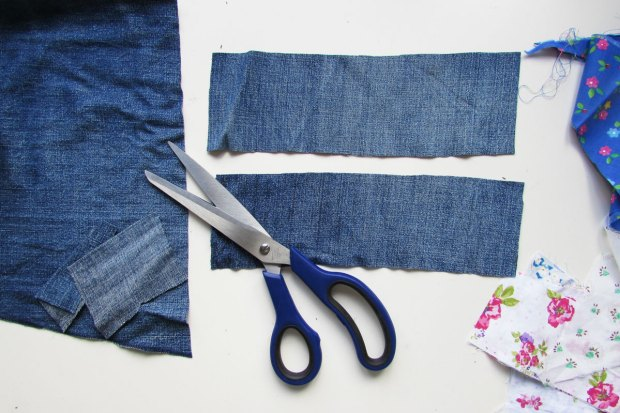 cutting-denim