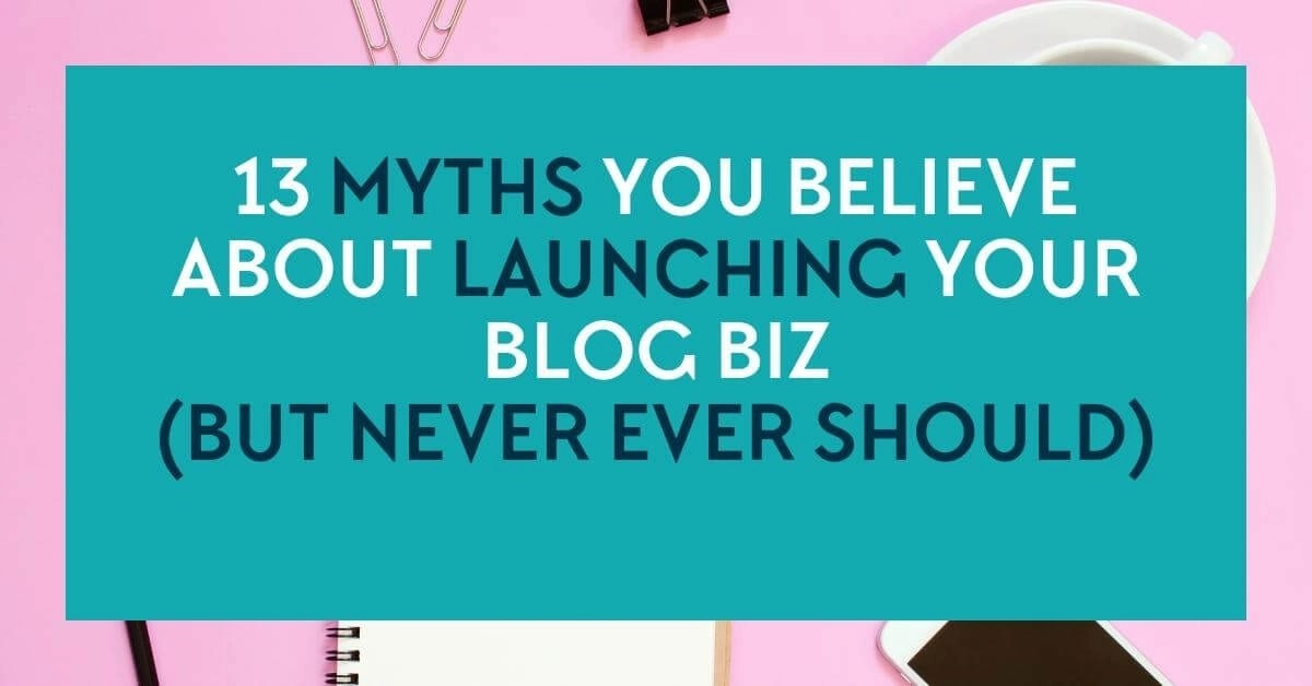 13 myths you believe about launching your blog \ online business - when emailing a resume