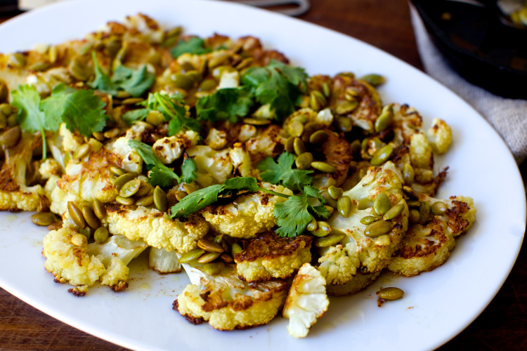 cauliflower-with-pumpkin-seeds-brown-butter-and-lime
