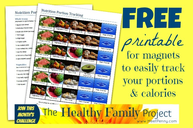Free Printable for Portion Control ~ No Calorie Counting! - Meet Penny