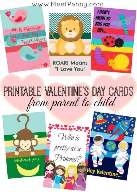 Printable Valentines Day Cards from Parent to Child - Meet Penny
