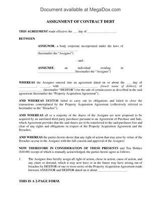 Assignment Of Mortgage Template Deed Of Trust Assignment Business - assignment of contract