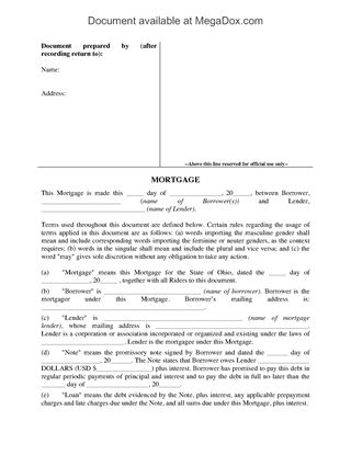Mortgage Forms Legal Forms and Business Templates MegaDox - release of mortgage form