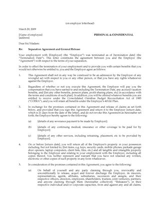 employee separation form template 72 Employee separation form - employment separation agreement
