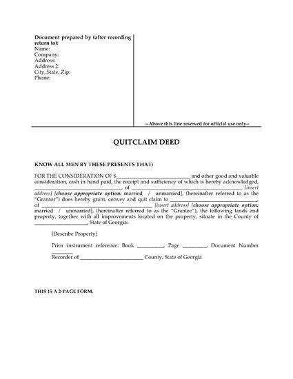Quitclaim Deed Form Maryland  Maintenance Administrator Resume