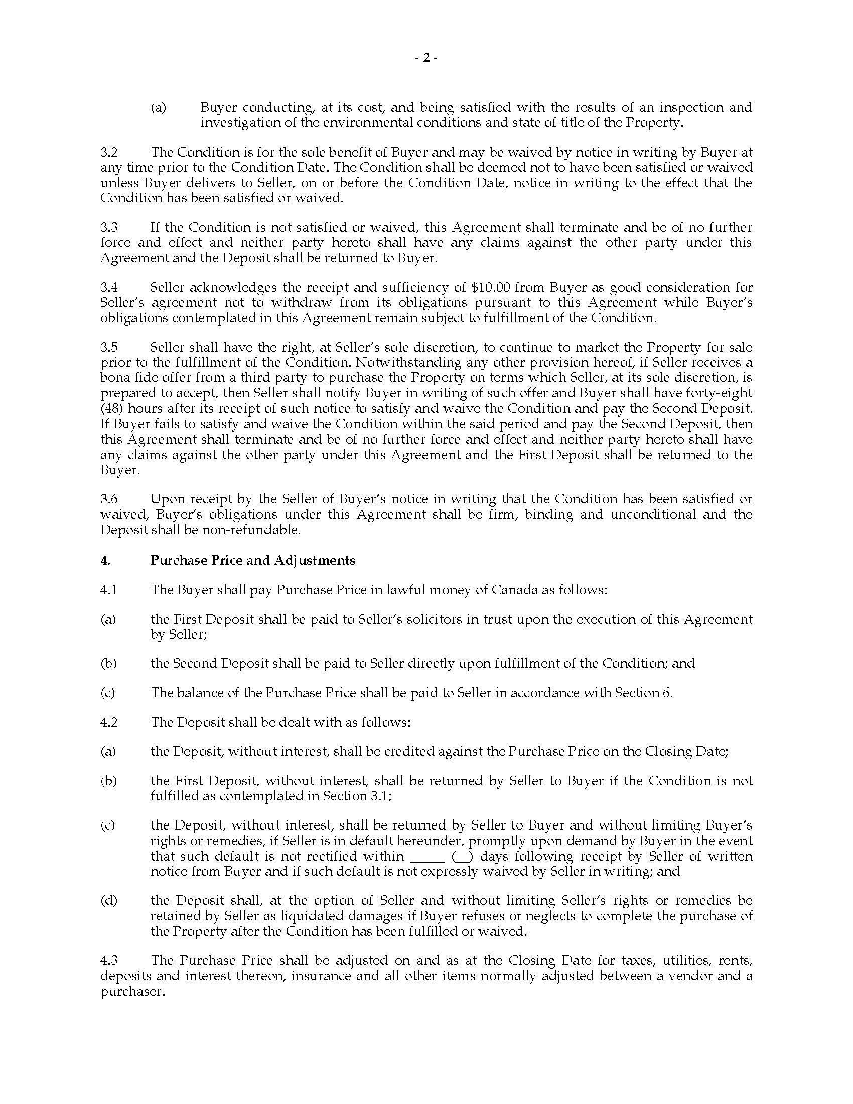 Doc878995 Property Purchase Agreement Real Estate Purchase – Commercial Purchase Agreements