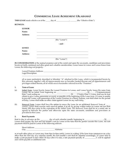 Florida Commercial Office Lease Agreement – Commercial Office Lease Agreement