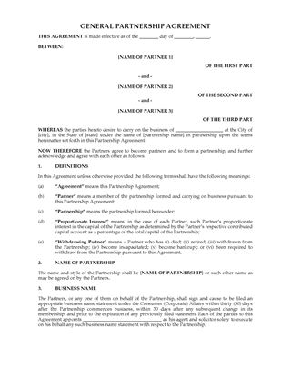 Australia Partnership Forms Legal Forms and Business Templates - joint partnership agreement template