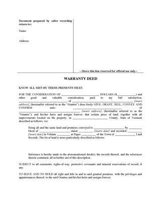 Sample Warranty Deed Form Printable Sample Warranty Deed To Trustee