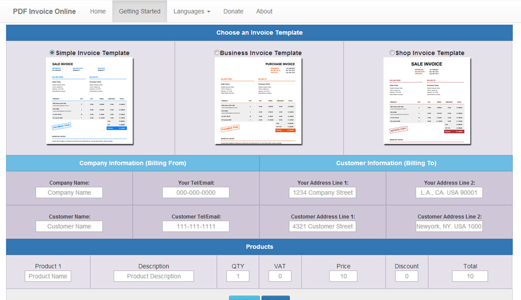 PDF Invoice Generator V 10 Nulled MegaleecherNet