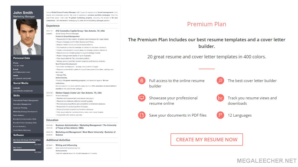 uptowork resume builder free