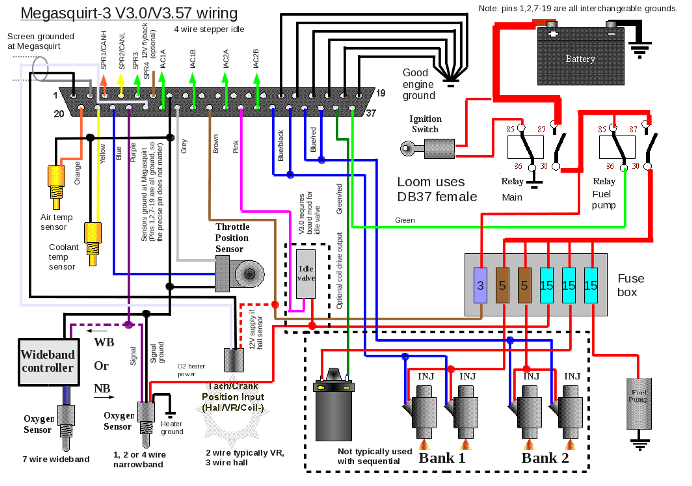 Db37 Cable Wiring Diagram Welcome To Megasquirt Uk