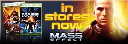 Highly anticipated Xbox 360 exclusive Mass Effect makes its long awaited debut   bioware splash me instores
