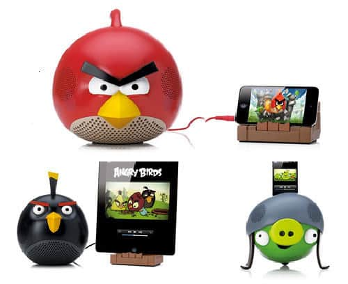 Defend Your Nest With Angry Birds Speakers   angry birds speakers