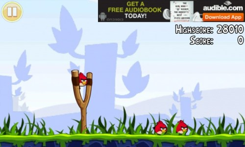 In App Advertisements Drain Battery Life, Study Says   angry birds ad 500x300