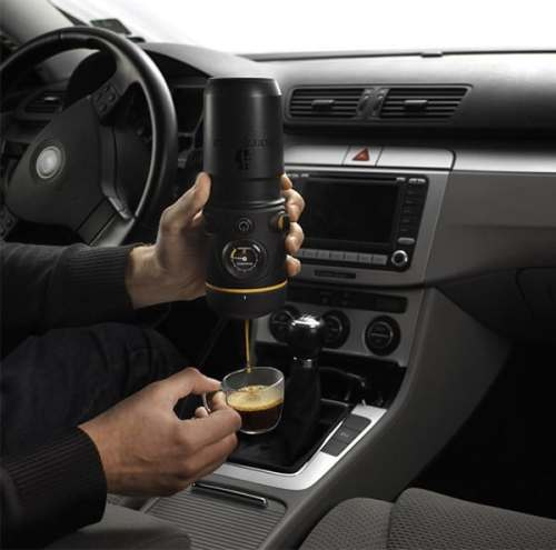 Handpresso For Your Car: Cause Accidents Faster?   handpresso auto espresso 500x495