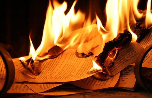 Small Connecticut Town Holding Drive to Destroy Violent Media   books burning